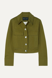 Cropped cotton-twill jacket