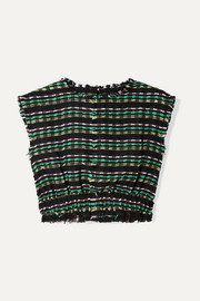 Proenza Schouler Cropped tweed top