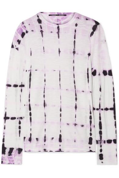 PROENZA SCHOULER | Proenza Schouler - Tie-dyed Slub Cotton-jersey Top - Lavender | Goxip