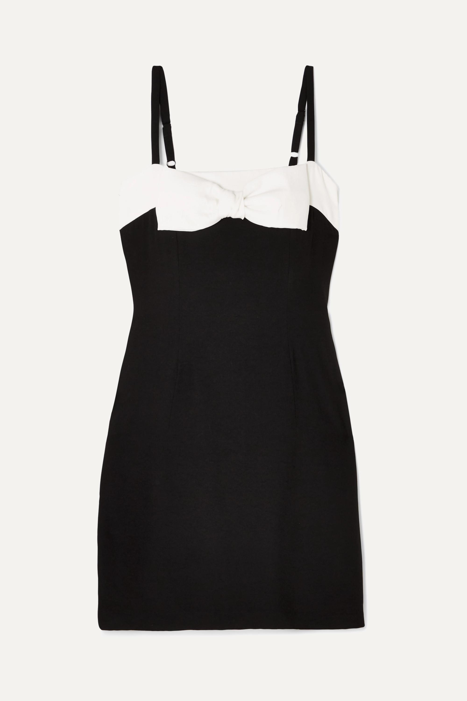 STAUD Vertigo bow-embellished cotton mini dress