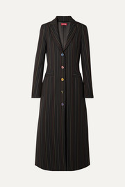 Beatrice striped crepe coat