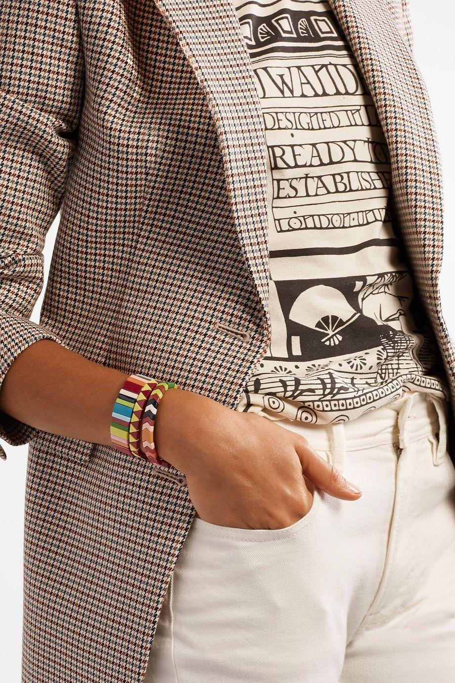 Roxanne Assoulin Picnic Blanket 搪瓷手链(三条装)