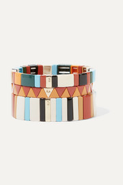 Roxanne Assoulin Canyon set of three enamel bracelets