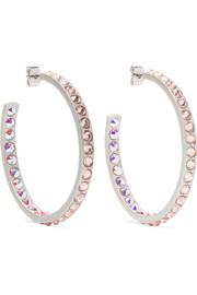 Roxanne Assoulin Hoop Dreams silver-tone crystal earrings
