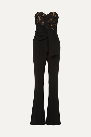 Black classic Jumpsuit with Belt tie