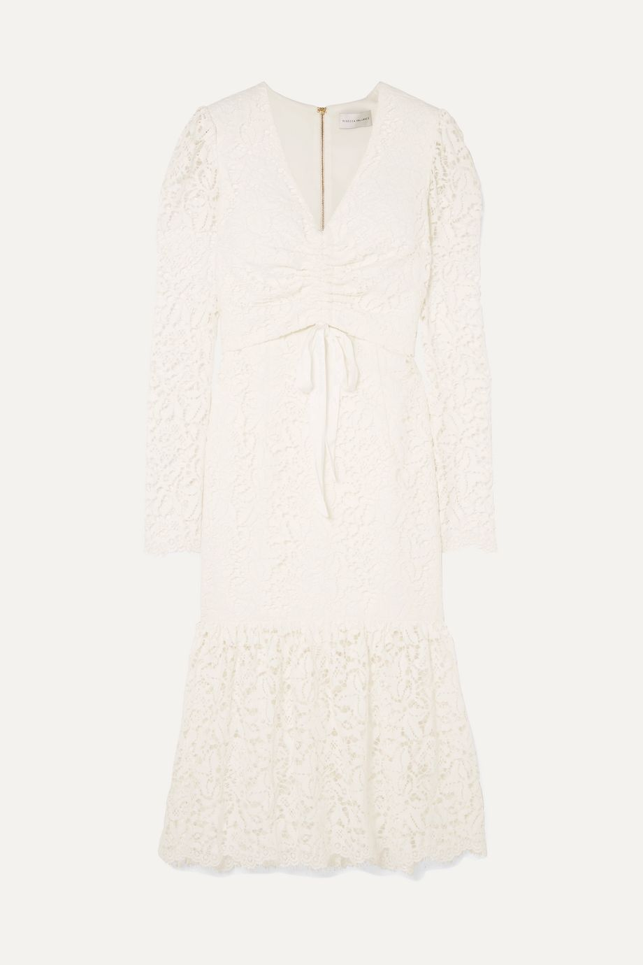 Rebecca Vallance Le Saint ruched lace dress