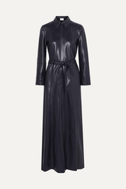 Taurus vegan leather maxi dress