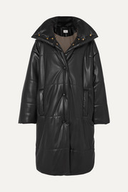 Eska oversized quilted vegan faux leather coat
