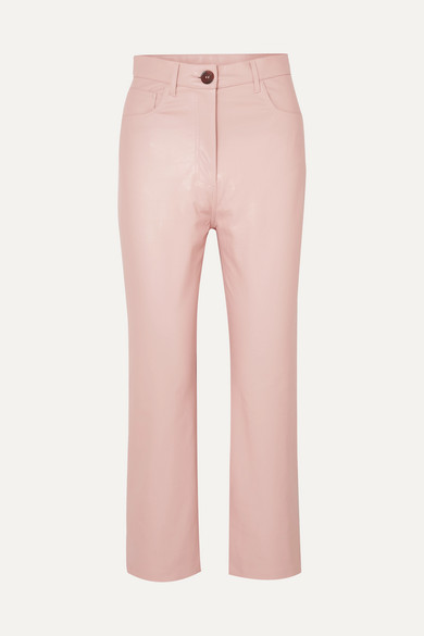 Nanushka Vegan Leather Trousers Pink