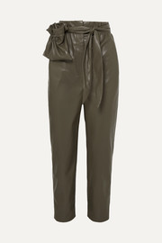 Nanushka Kedu belted vegan leather straight-leg pants