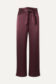 Siona knotted satin straight-leg pants
