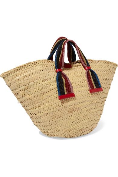 Dolce   Gabbana. Kendra lurex-trimmed embellished straw tote fd8288a761e