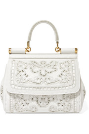 Sicily small cutout embroidered leather tote