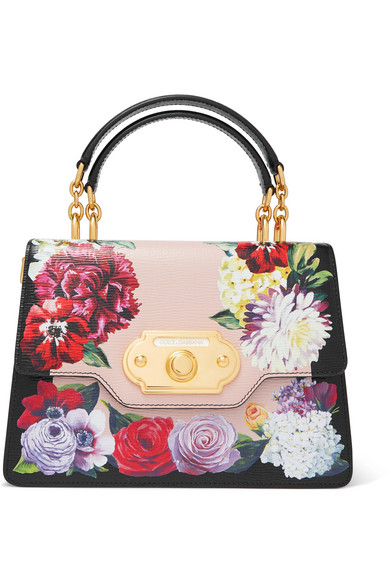 Dolce & Gabbana - Welcome medium floral-print textured-leather tote