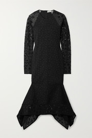 Opening Ceremony Stretch-cloqué and sequined tulle midi dress