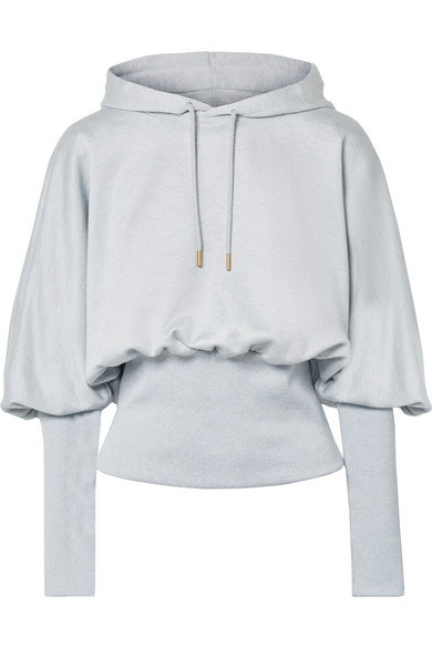 Cotton-Terry Hoodie in Light Gray from OPENING CEREMONY