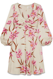Zimmermann Printed stretch-silk twill mini dress