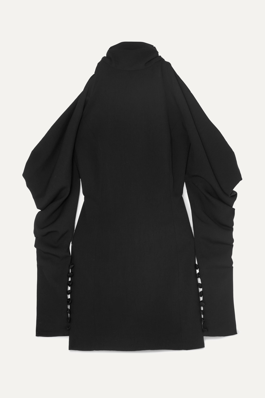 16ARLINGTON Cold-shoulder crepe turtleneck mini dress