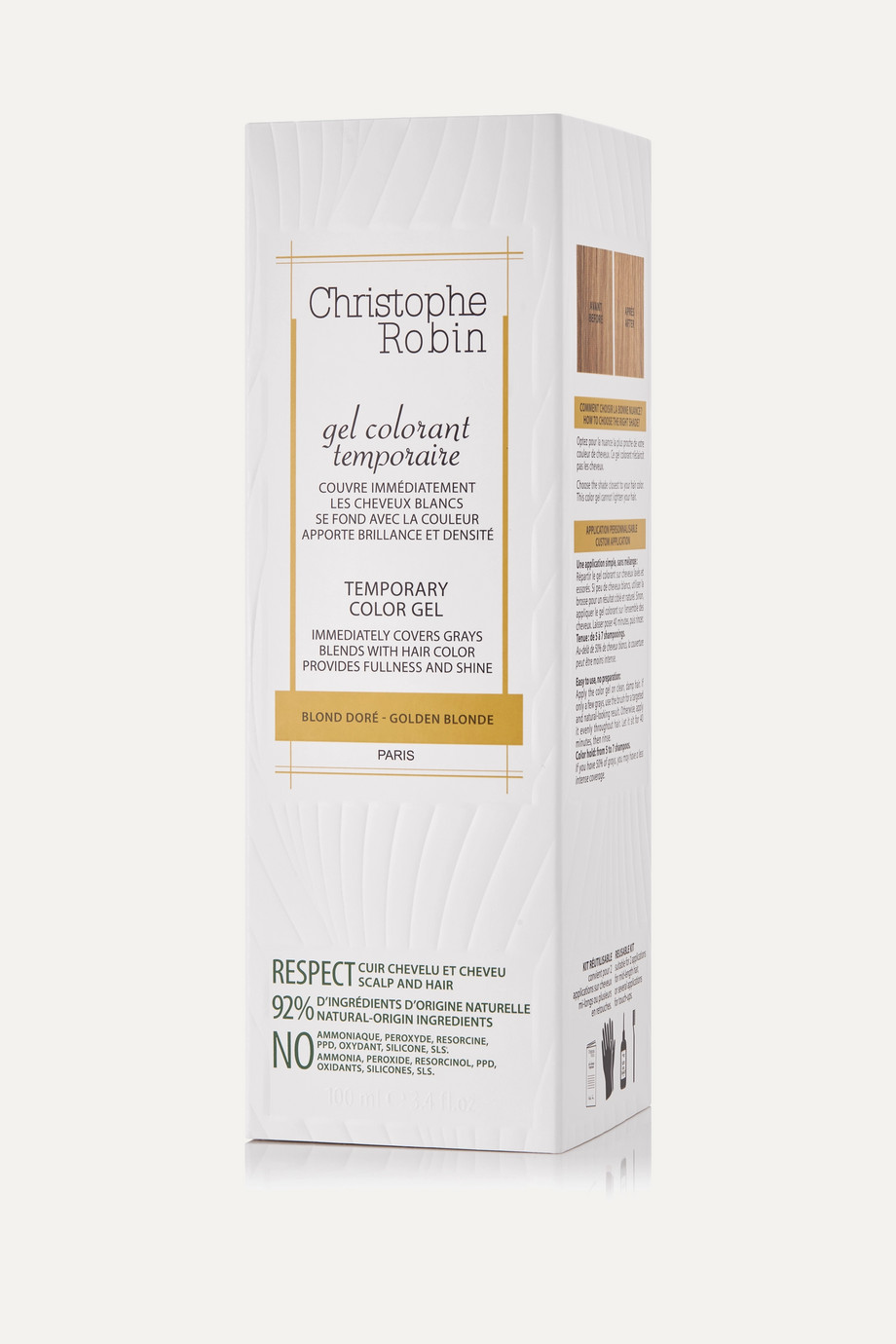 Christophe Robin Temporary Color Gel Golden Blonde, 100ml