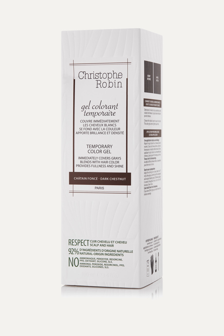 Christophe Robin Temporary Color Gel Dark Chestnut, 100 ml – Haartönung