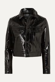 A2B textured patent-leather jacket