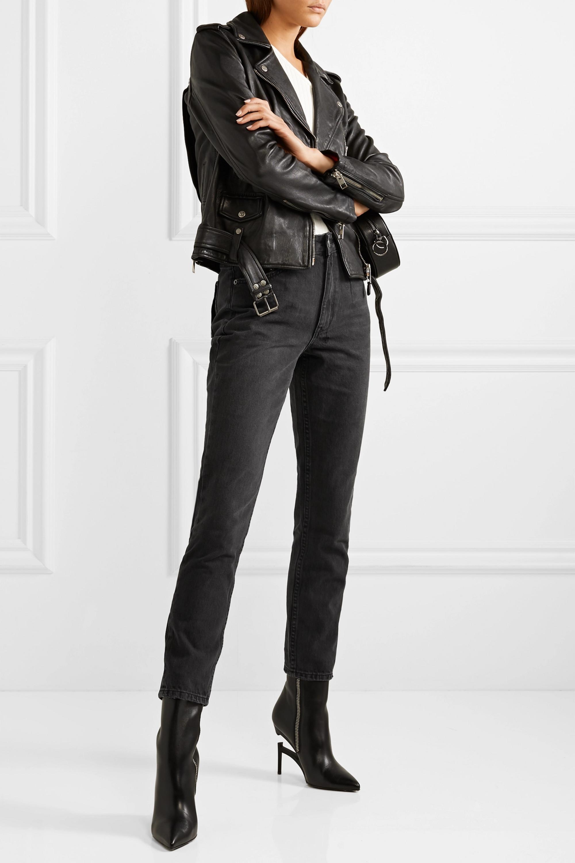 Ksubi Slim Pin Hi Society high-rise slim-leg jeans