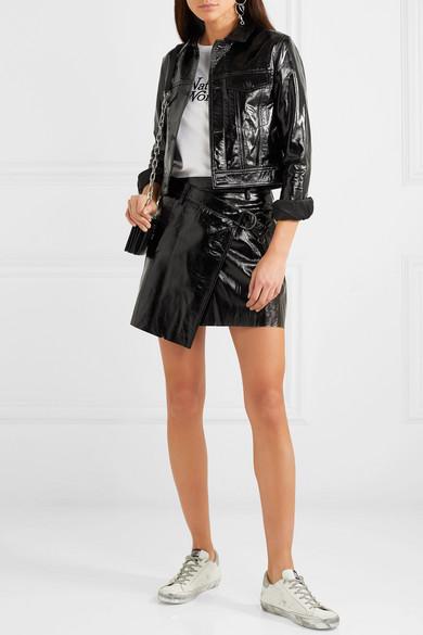 4850484fce Ksubi | Textured patent-leather wrap mini skirt | NET-A-PORTER.COM