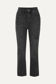Ksubi Chlo Wasted Castor Oil cropped distressed high-rise slim-leg jeans
