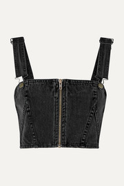 Ksubi Legacy cropped denim top