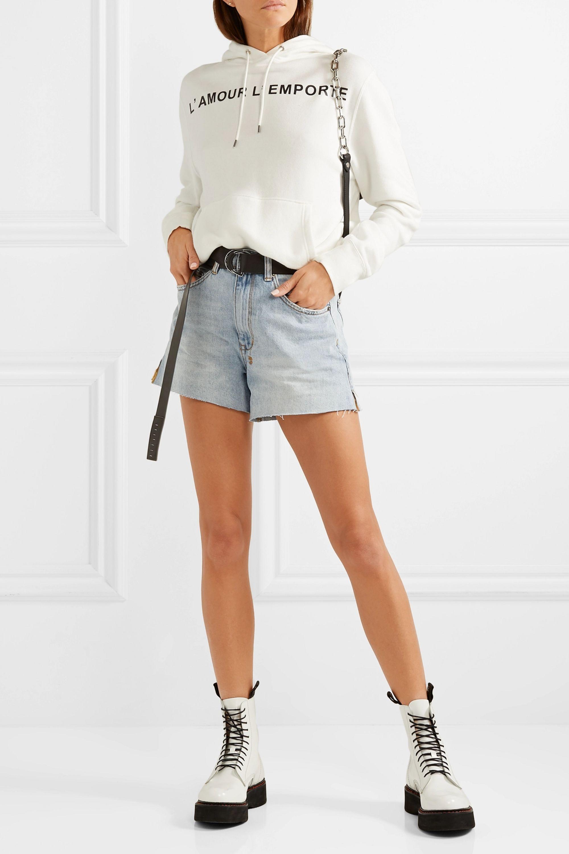 Ksubi Frayed denim shorts