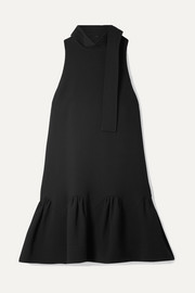 Lela Rose Wool-blend cady mini dress