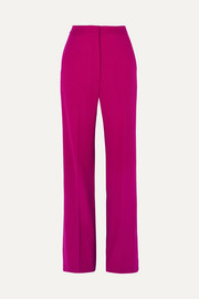 Lela Rose Wool-blend cady wide-leg pants