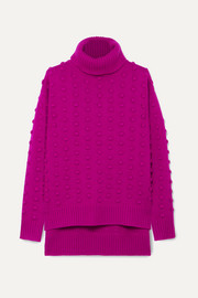 Lela Rose Bobble-knit wool and cashmere blend turtleneck sweater