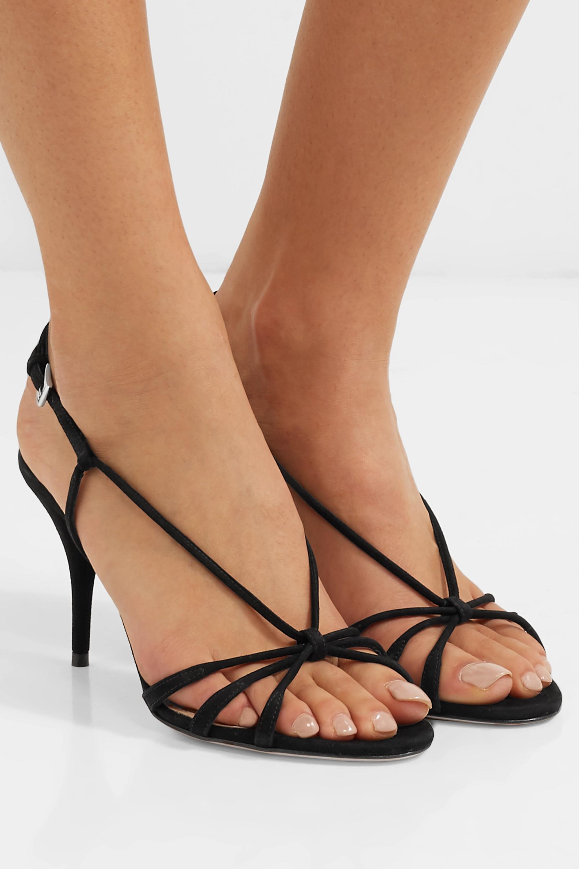 Prada 85 suede slingback sandals