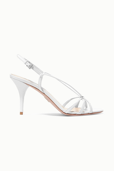 85 Leather Slingback Sandals in White