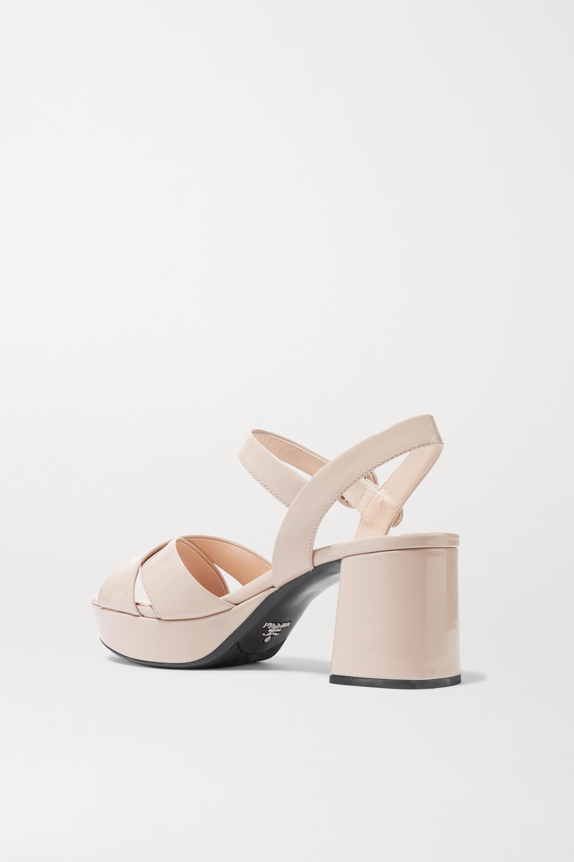 Prada 65 patent-leather platform sandals