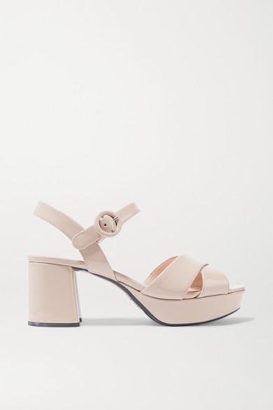 65 Patent-Leather Platform Sandals