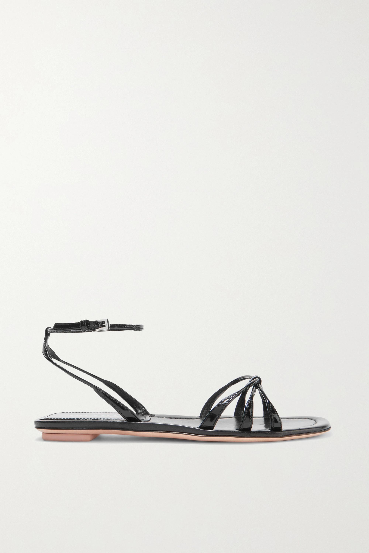 Black Patent-leather sandals   Prada
