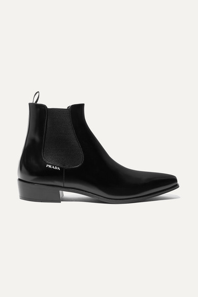 glossed-leather-chelsea-boots by prada