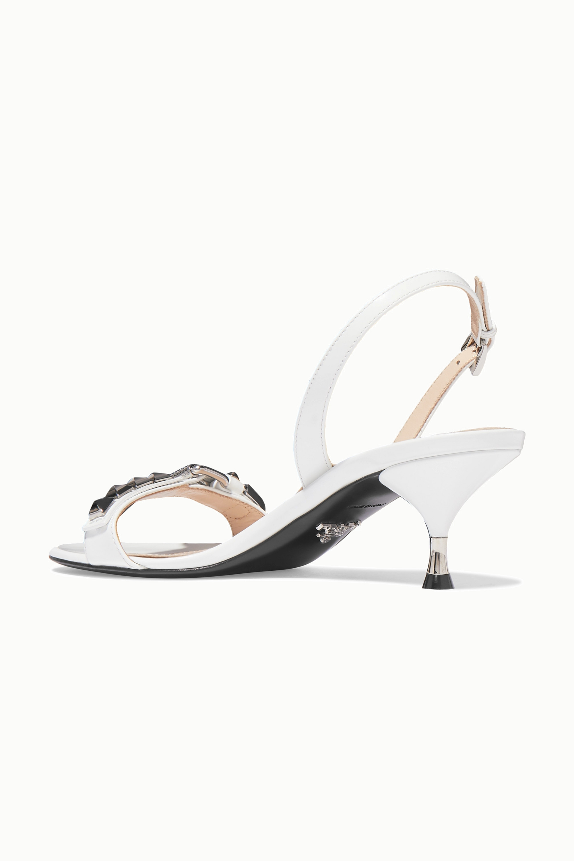 Prada 60 studded leather slingback sandals