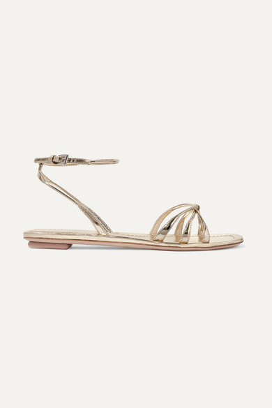 Prada Sandals Metallic leather sandals