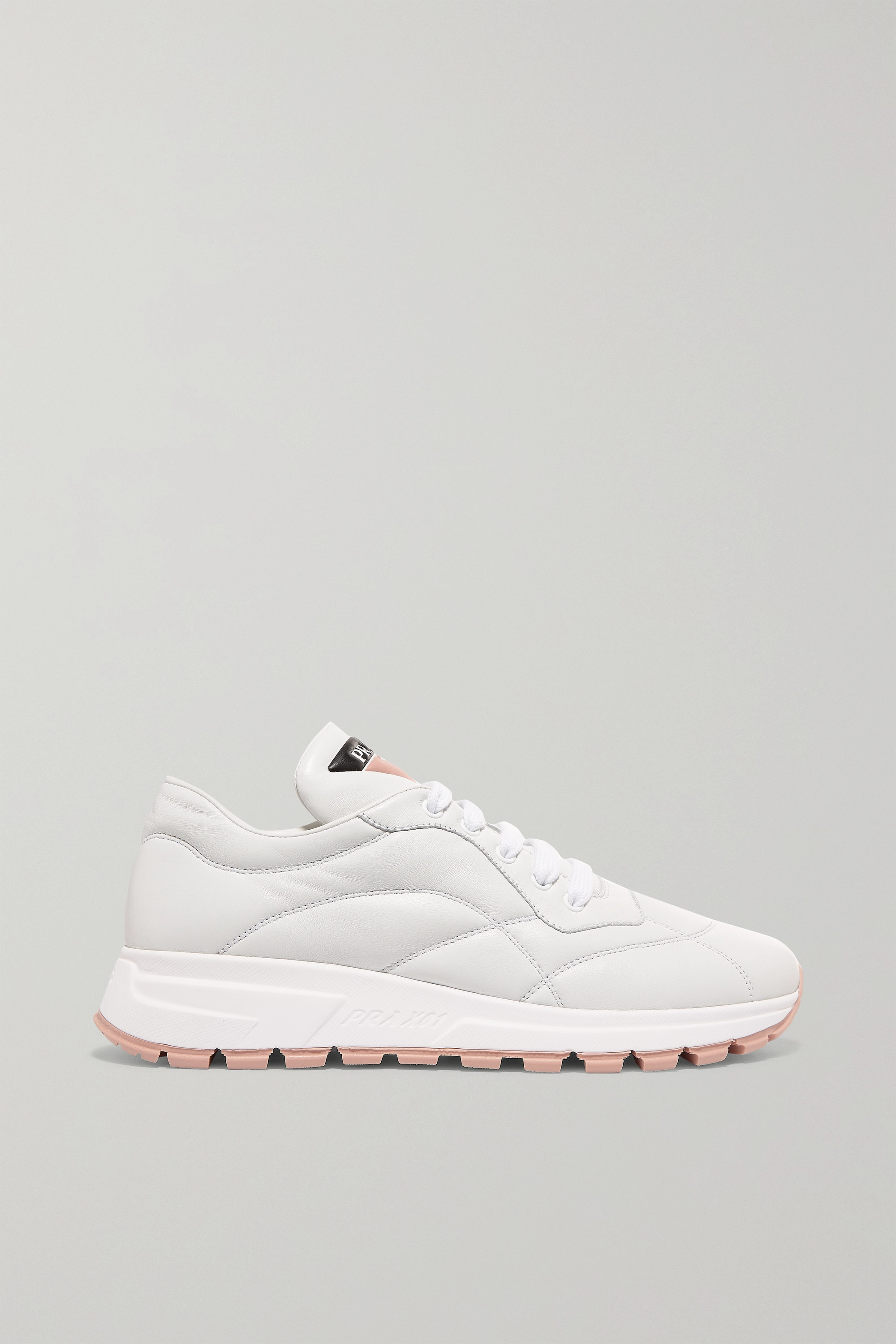 Prada Mattress printed quilted leather sneakers