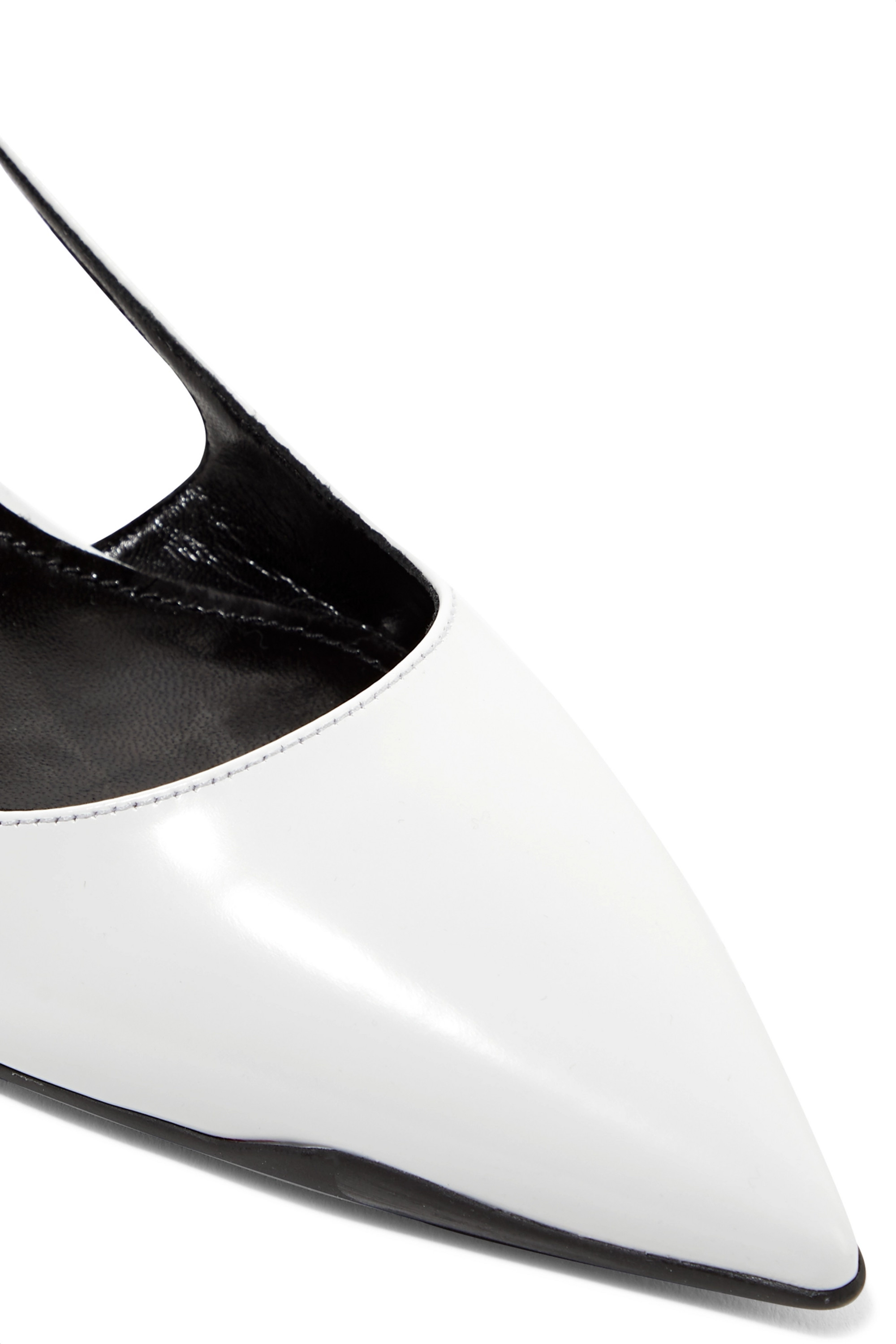 Prada 55 leather slingback pumps