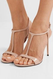 105 glossed-leather sandals