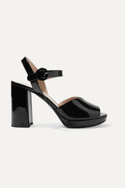 Prada 95 patent-leather platform sandals