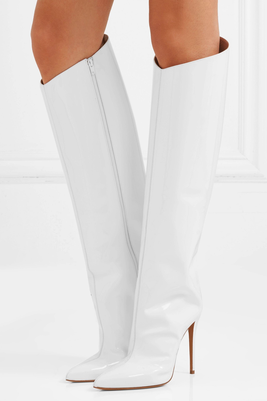 Alexandre Vauthier Alex patent-leather knee boots