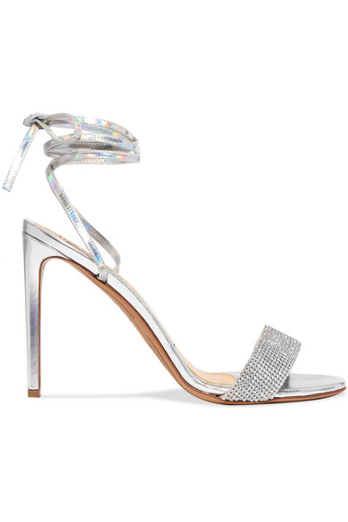 8b72091a7 Alexandre Vauthier. Kim Swarovski crystal-embellished iridescent leather  sandals. £575