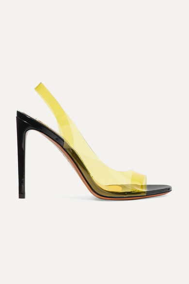 Amber Ghost Patent-Leather And Pvc Sandals in Yellow