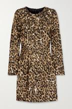 7b4445dedd8 Dolce   Gabbana Leopard-print sequinned crepe mini dress