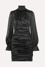 Dolce & Gabbana Ruched silk-satin mini dress